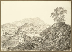 Rocky landscape between Gaurandi and Raghunathpur (Bihar). 3 February 1823